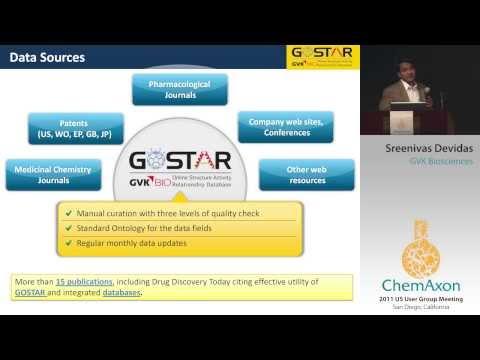 GoStar DB-Online Structure Activity Relationship Database Presenation at ChemAxon 2011 SanDiego