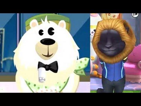 Dr. Panda Restaurant VS My Talking Tom iPad Gameplay HD