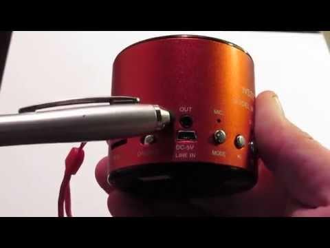 Mini Speaker #WSTER WS-138RC #USB SD-Card FM #Radio