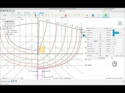 Fusion 360: Boat modelling from line drawings. Loft tool method.