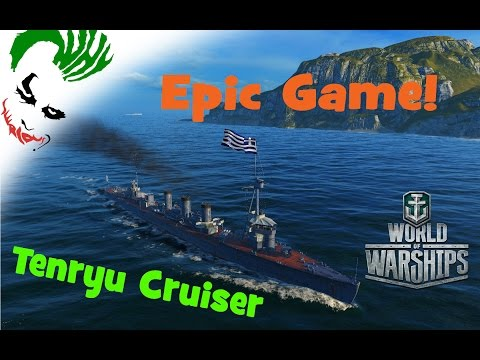 Tenryu Epic game! [Greek Squad] [World of Warships]
