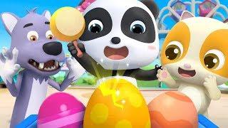 Toy Cars in Colored Eggs | Doctor Cartoon, Police Cartoon | Nursery Rhymes | Kids Songs | BabyBus