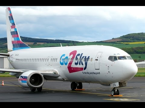 OM-GTA & OM-GTB Boeing B737-400 Go2Sky at Clermont-Fd Auvergne Airport!