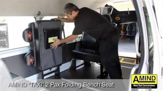 Amind Maxi Taxi 2 Passenger Folding Bench Seat