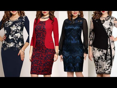 Most Amazing And Stylish Printed Plain And Lace Designing Bodycon Sheath Dress Design And Ideas Youtube