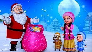 Santa Claus Christmas Rhymes | Telugu Rhymes for Kids | Infobells
