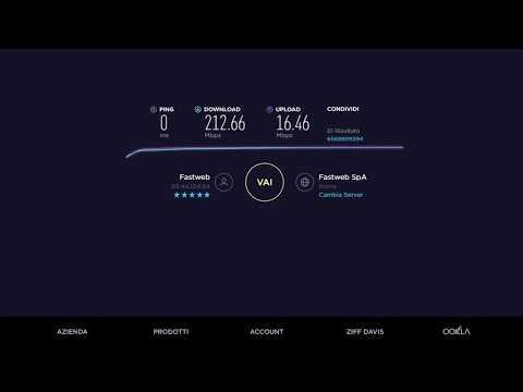 200 Mega Fastweb SpeedTest (a caso) FTTS