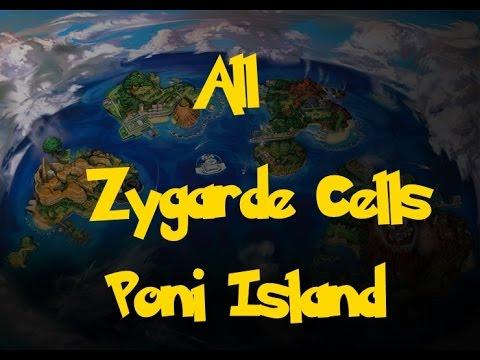 All Zygarde Cells: Poni Island (Pokemon Sun/Moon)