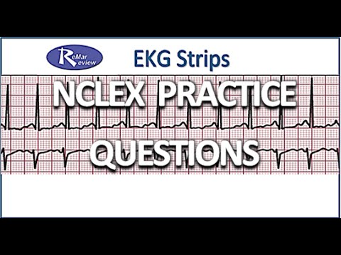 Nclex Practice Questions Ekg Strips Youtube