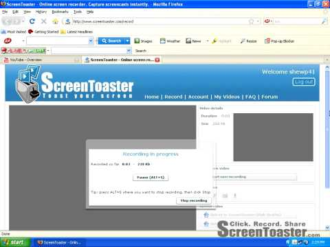 Free Screen Recorder - Screen Toaster (NO DOWNLOADS)