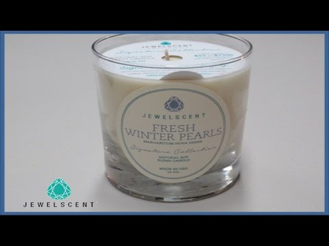 JewelScent Ring Reveal - Fresh Winter Pearls Candle