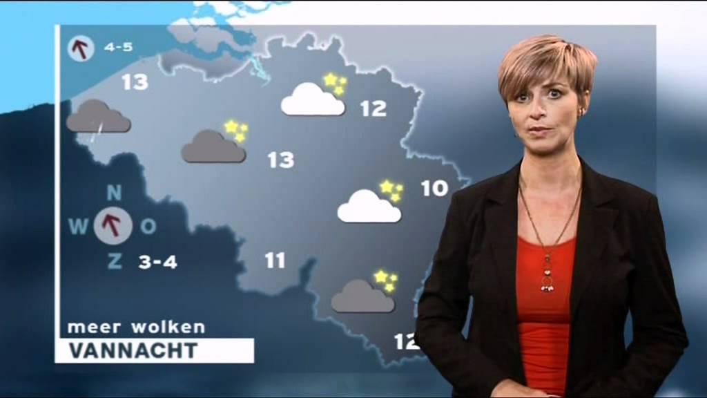 Sabine Hagedoren 2 november 2011 weerbericht VRT - YouTube