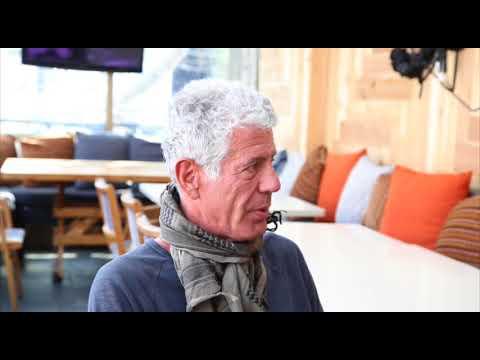 Anthony Bourdain talks travel and food with Jane Stevenson