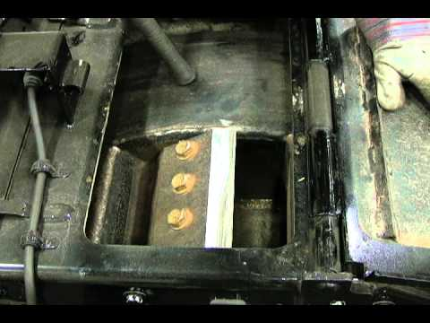 Bandit Chippers Changing Servicing Knives On A Drum