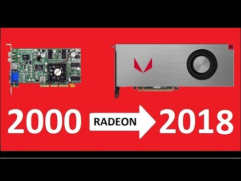 Evolution of Radeon 2000 - 2018 . Amd and Ati graphics cards