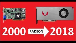 Evolution of AMD Radeon 2000 - 2018 . Amd and Ati graphics cards