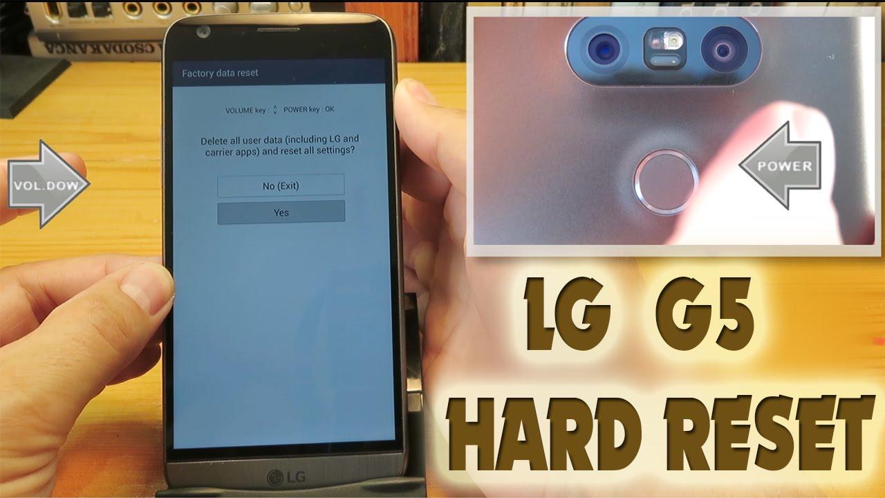 LG G5 Hard Reset (Factory Reset)