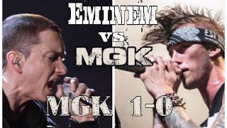 "MGK's ""Rap Devil"" vs Eminem's ""KILLSHOT"": MGK Winning 1-0"