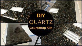 HOW TO: DIY Black Quartz Countertop Resurfacing Kits//Leggari's New Countertop Kit