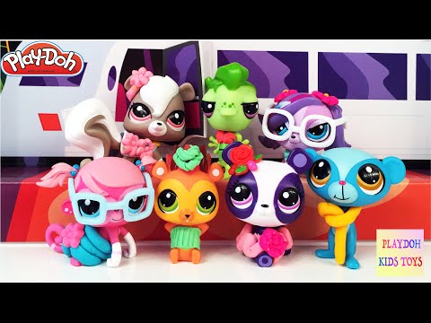 Play-Doh LPS Littlest Pet Shop Runway Pets Collection Hasbro Kids Toys Playset