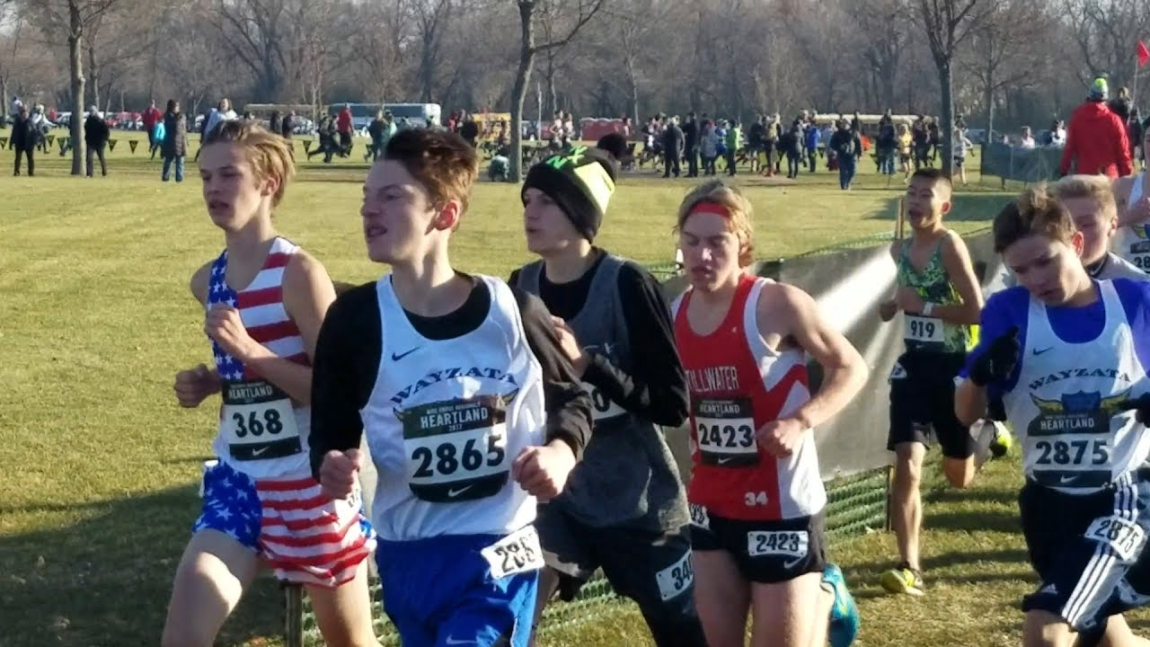 new style e81b0 cbc7c NIKE Cross Regional Heartland 2017 Sioux Falls, SD Rising Stars 5K Boys  Cross Country Race