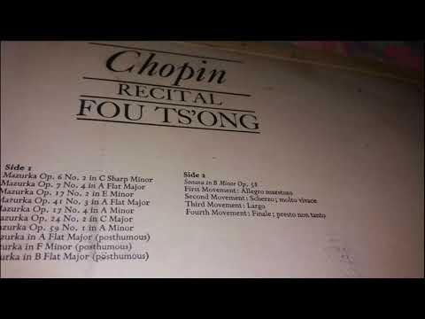 Chopin Sonata in B Minor, Op. 58 -  Fou Ts'Ong (1960)