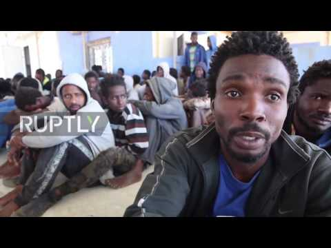 Libya: Police pick up migrants left adrift after boat engine stolen