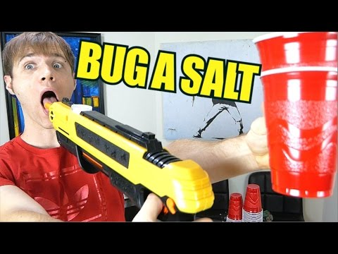 Bug A Salt - Cup Blowing Challenge - Non Newtonian Fluid Experiments | TC #186