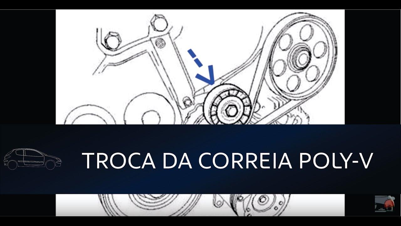 206 207 Troca Da Correia De Acess 243 Rios Poly V Youtube