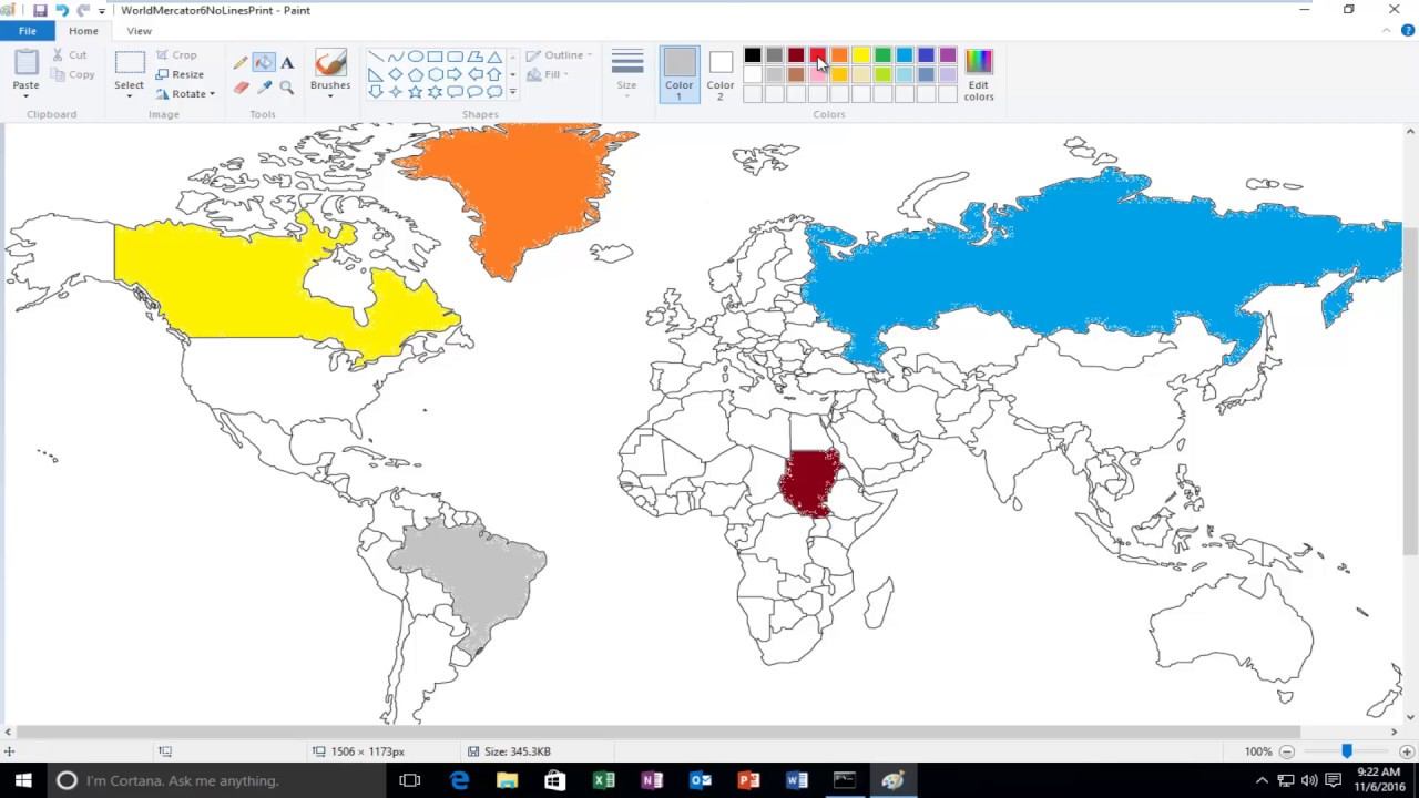 Fill An Area With Color In Microsoft Paint  YouTube