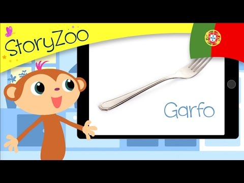 In the kitchen • Childrens First Words • Portuguese