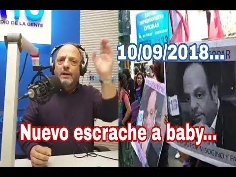 Baby etchecopar Fuerte Editorial por nuevo escrache en la Radio 10 .CN23 10 / 09 / 2018