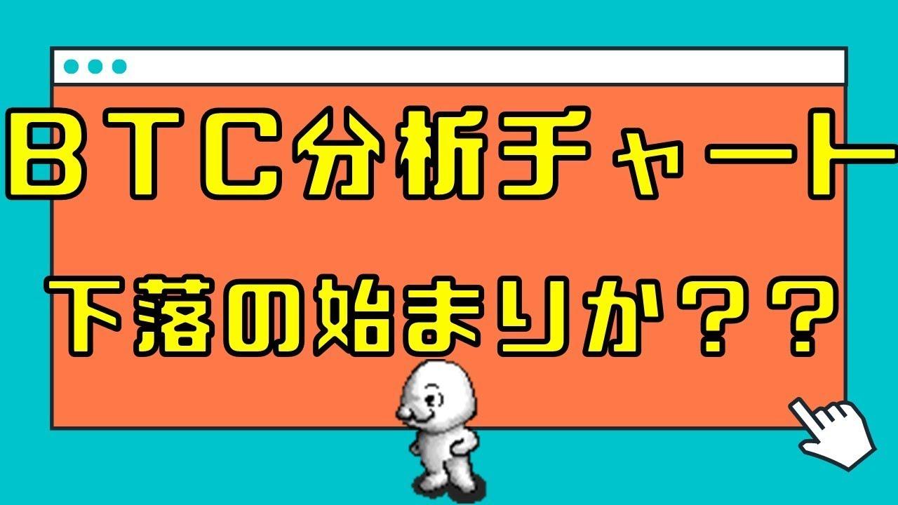 【仮想通貨 ビットコイン】BTC分析チャート 下落始まる?? 12