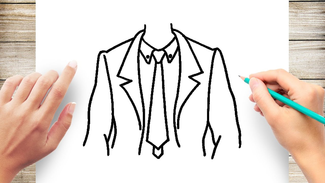 How To Draw How To Draw Suit And Tie Easy Youtube