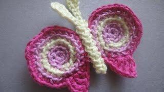 Аппликация БАБОЧКА BUTTERFLY Applique Crochet