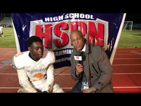 2018 Dade vs Broward All Stars - David Hill Post Game Interview Dade All Star TeCorey Tutson (Ath).