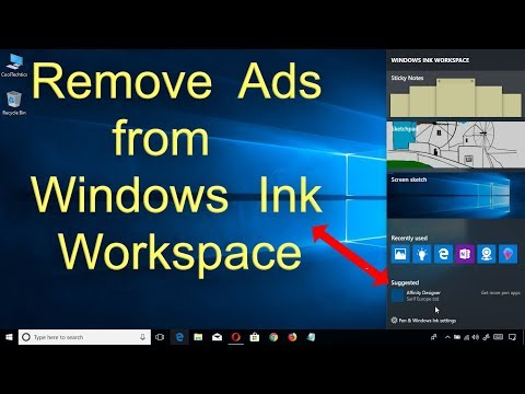 Remove ads from Windows Ink Workspace