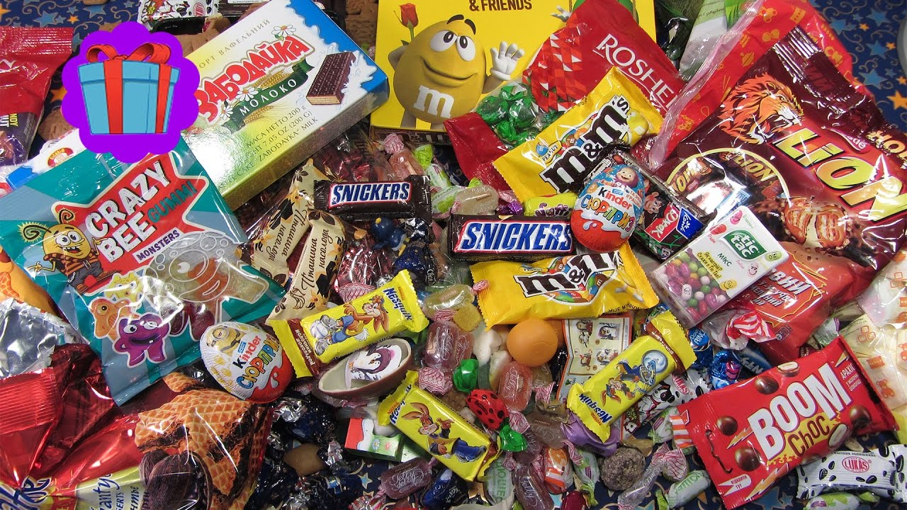 New! A Lot of Candy Sweets and Suprise Eggs! Candy Man ...