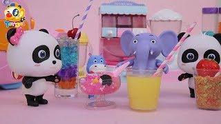 Baby Panda's Fruit  Smoothie Party   Fruit Juice   Kitchen Play Set for Kids   Kids Toys   ToyBus