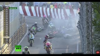 WATCH: Macau Moto GP cancelled after fiery crashes