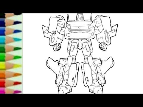 Belajar Menggambar Robot Mobil Tobot W How To Draw Tobot W