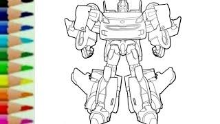 Belajar Menggambar Robot Mobil Tobot W How To Draw Tobot W Transformers Carbot Rtv 또봇 Youtube