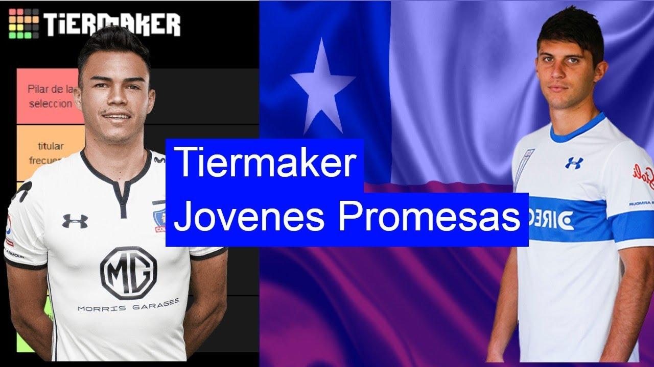 Futuras estrellas del fútbol Chileno | Tiermaker jóvenes promesas del fútbol Chileno Sub 23