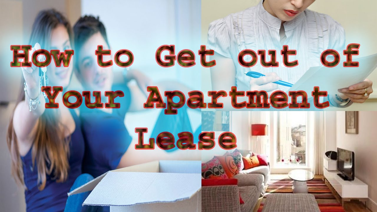 How to Get out of Your Apartment Lease