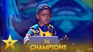 Gambar cover DJ Arch Jnr: 7 Y.O. DJ Creates The BIGGEST Party In Wembley!| Britain's Got Talent: Champions