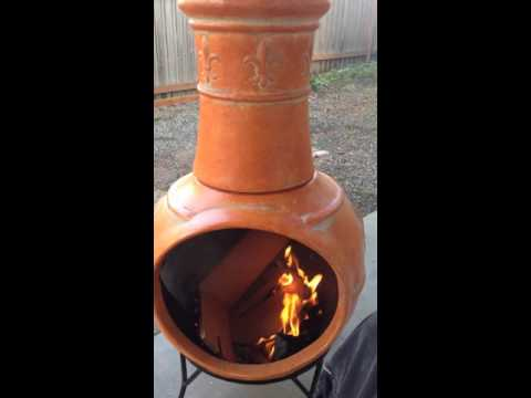 Outdoor Chiminea Fireplace Home Depot