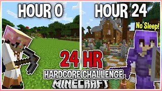 I Played Hardcore Minecraft for 24 Hours STRAIGHT... Again..