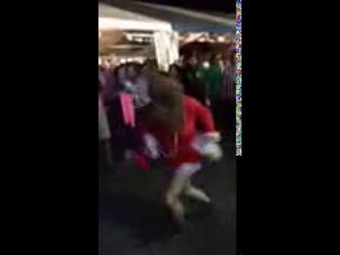 Crazy Girl Dancing at Wurstfest in New Braunfels, TX