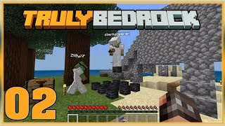 Truly Bedrock S0 EP2 : Beacon Farming ... Fails!?  [Minecraft, MCPE, Bedrock Edition,Windows 10]