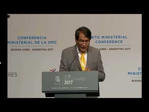 Statement by Minister of Commerce and Industry, India at WTO MC, Buenos Aires